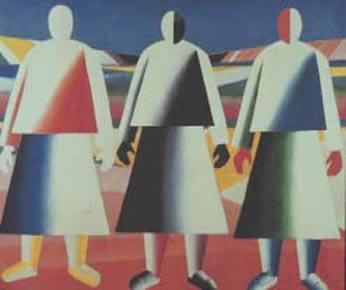 """Malevich, """"Girls in a Field"""" (1928-32)."""