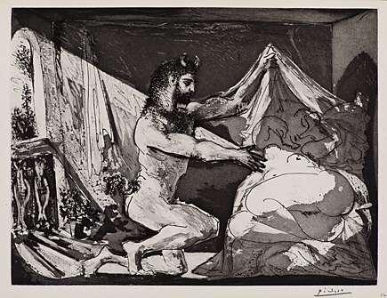 """Picasso, """"Faune dévoilant une Femme"""" / """"Faune dévoilant une dormeuse"""" from """"La SuiteVollard"""""""