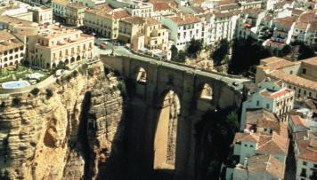 The bridge of Ronda, inSpain